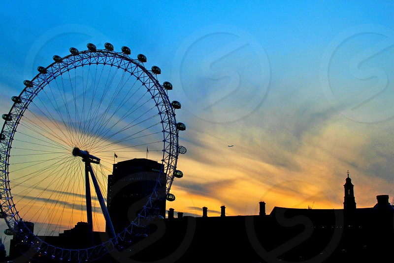 London Eye Sunrise 1 photo