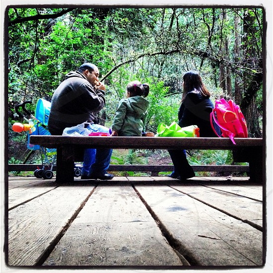 Family time at Muir Woods Ca. photo