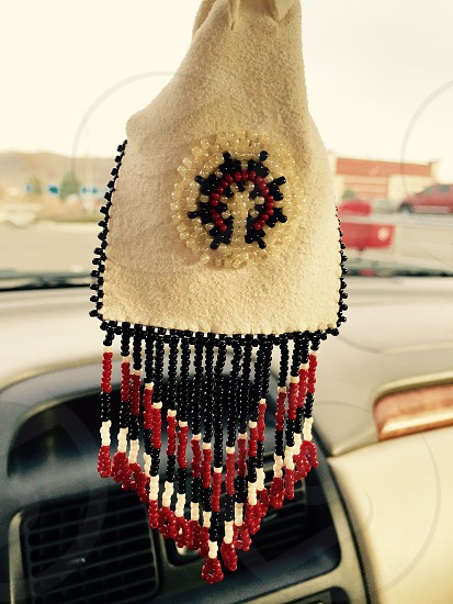 Navajo Native American medicine beaded bag  photo
