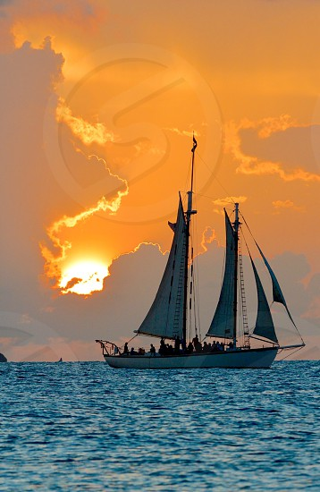 Key West Sailboat Sunset  photo