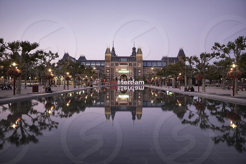 The amazing Rijksmuseum in the city centre of Amsterdam photo