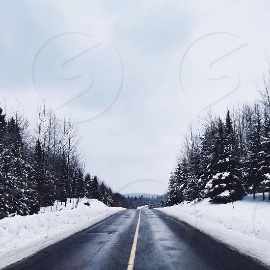 black pavement highway  photo