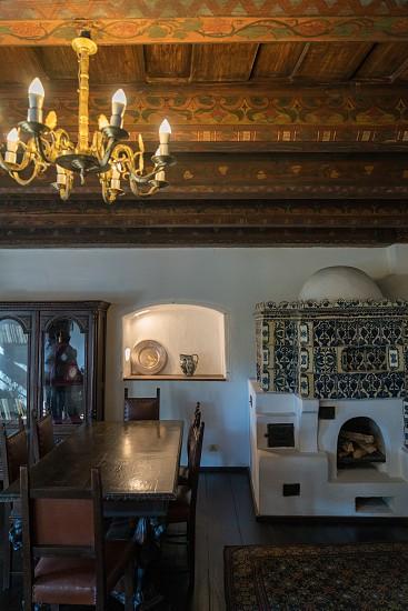 BRAN TRANSYLVANIA/ROMANIA - SEPTEMBER 20 : Interior view of Dracula's Castle in Bran Transylvania Romania on September 20 2018 photo