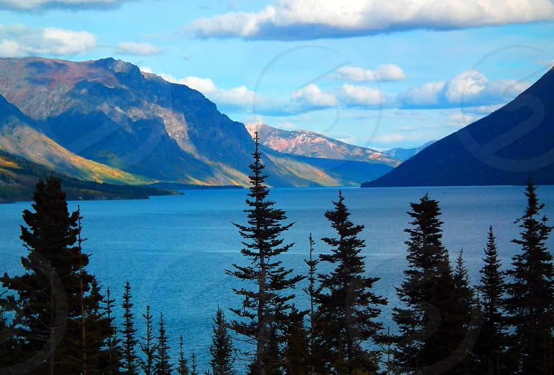 alaska mountains and lake photo