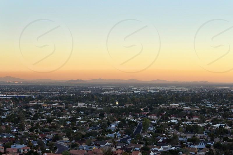 Ariel city view of Phoenix Arizona photo