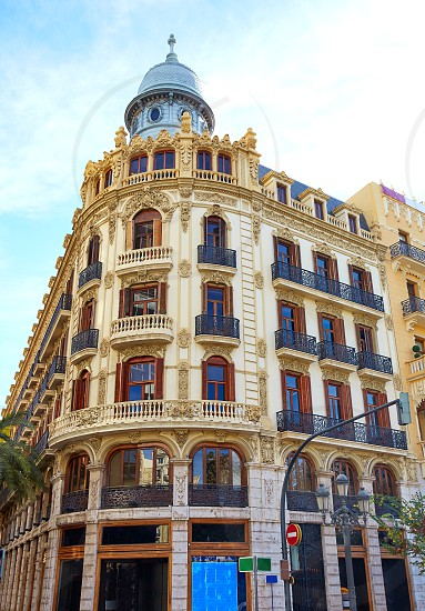 Valencia Ayuntamiento square Casa Ferrer building at Spain photo