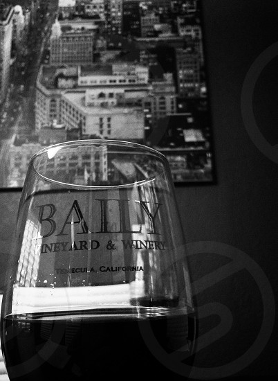 clear baily red wine glass photo