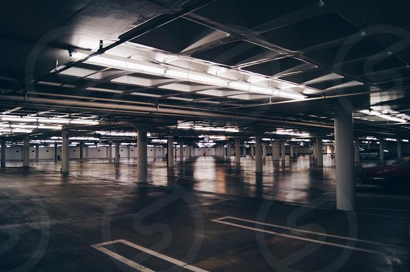 Empty parking lot  photo