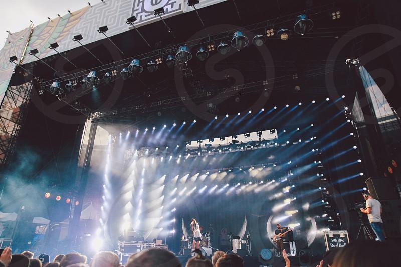 Untold music festival concertsummer lights photo