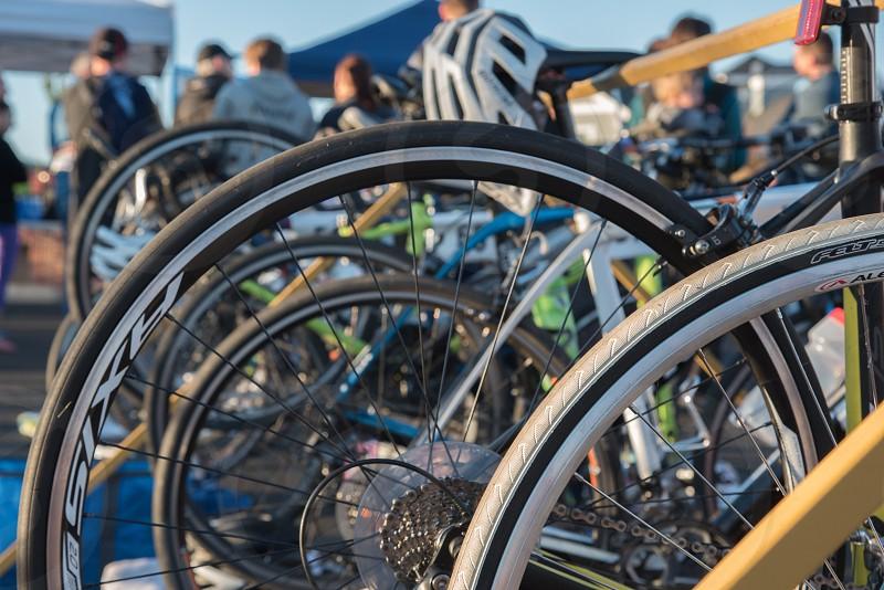 Bicycles wheels sports bikes tires triathlon  photo