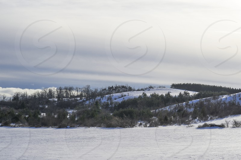 Hilly Winter Scene photo