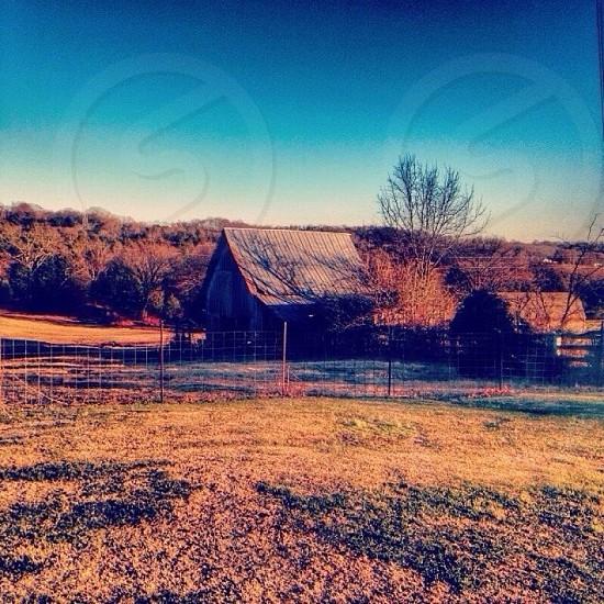 barn across the hill photo