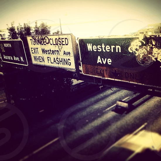 western ave road sign photo