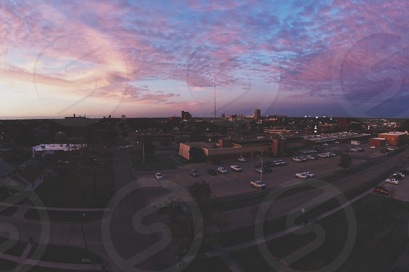 Drone aerial cotton candy Sky sunrise sunset photo