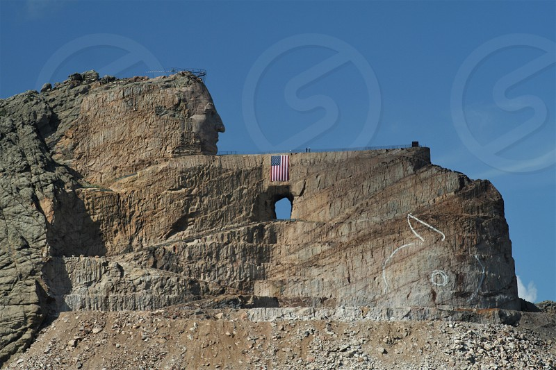 Crazy Horse Memorial Monument near Custer South Dakota photo