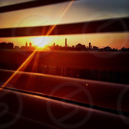 #goldenhour sunset New York City  photo