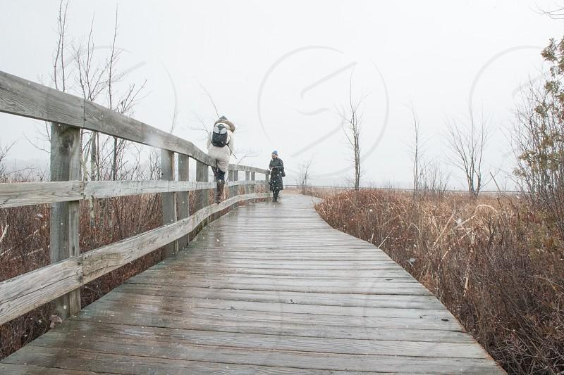 At Marais de la Rivière aux Cerises in Magog Quebec photo