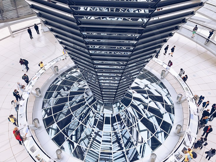 Circles  circle building architecture  top perspective  reflect  reflections people photo