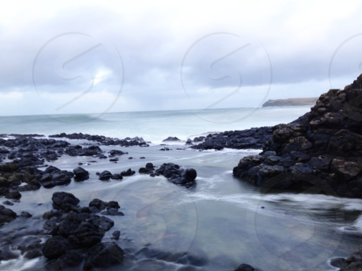 sea and rock view photo