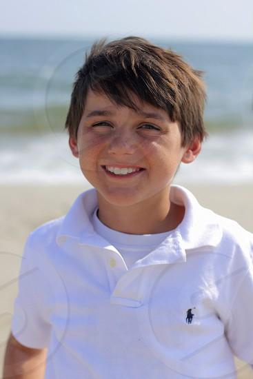 Child at Dauphin Island AL photo