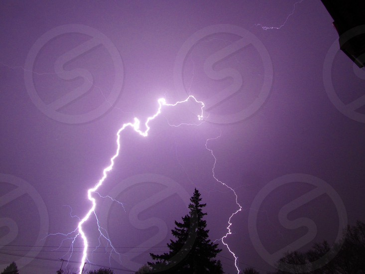 Close #lightning shot probably my best on thus far...in Farrell Pennsylvania USA  photo