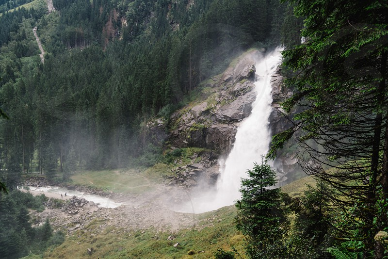 Krimml Waterfalls in High Tauern National Park in Austria photo
