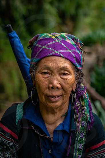 Portrait of beautiful woman in the North of Vietnam photo