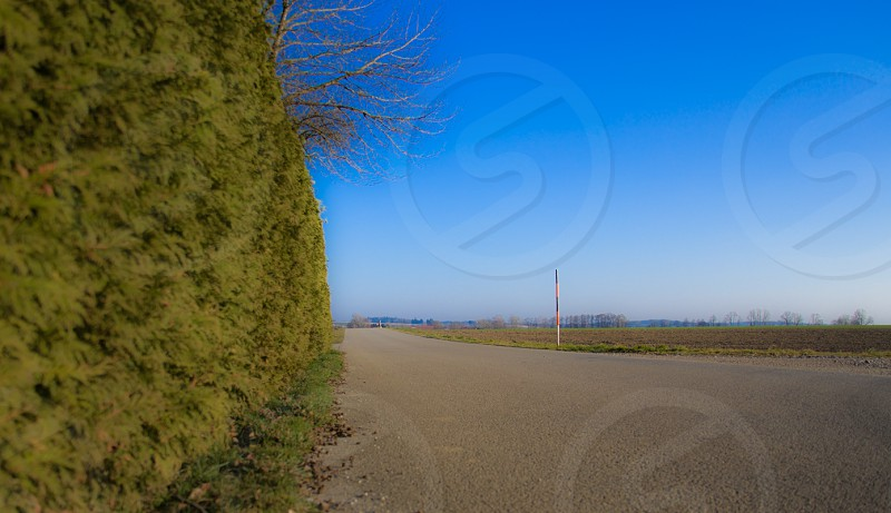 road way view photo