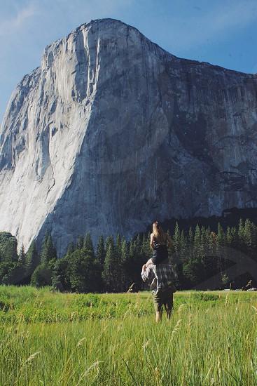 large white stone mountain photo