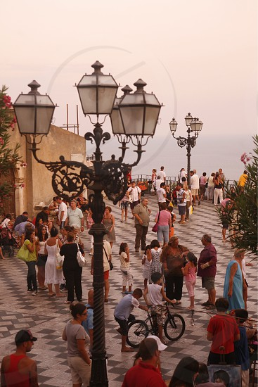 The old Town of  Taormina in Sicily in south Italy in Europe. photo