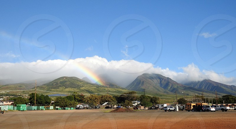 Rainbow in West Maui Mountains          photo