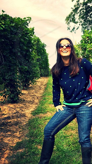 Wine vineyard grapes laughter happiness  photo
