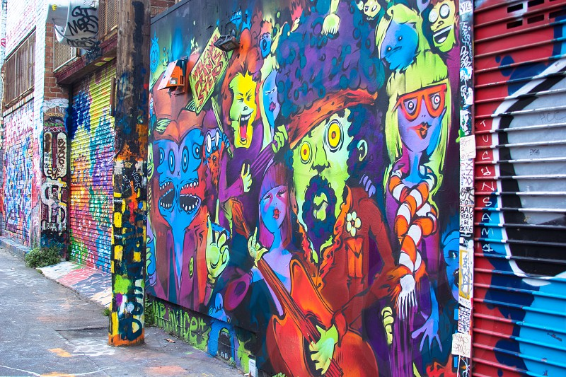 San Francisco CA - San Francisco has whole alleyways dedicated to street art and murals! photo