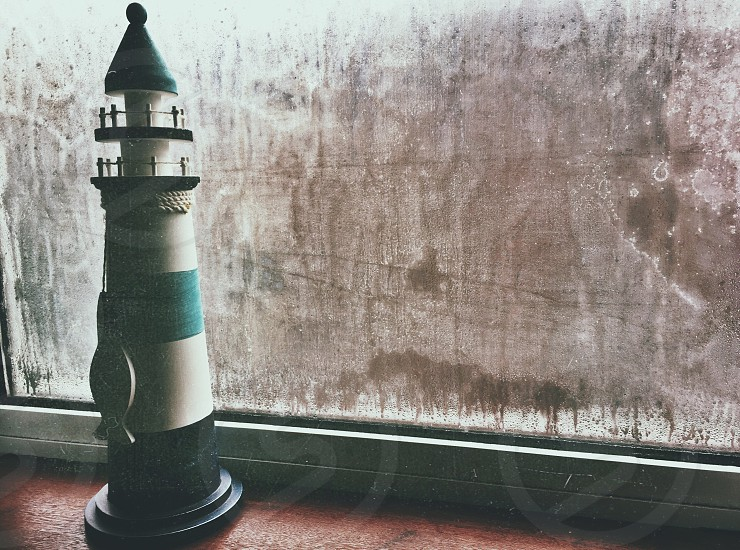 small lighthouse figurine photo
