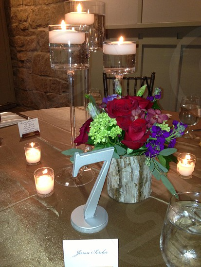 candle light dinner photo