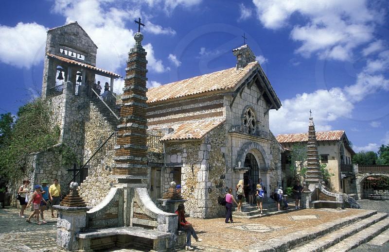 the colonial village of Altos de Chavon in the Dominican Republic in the Caribbean Sea in Latin America. photo