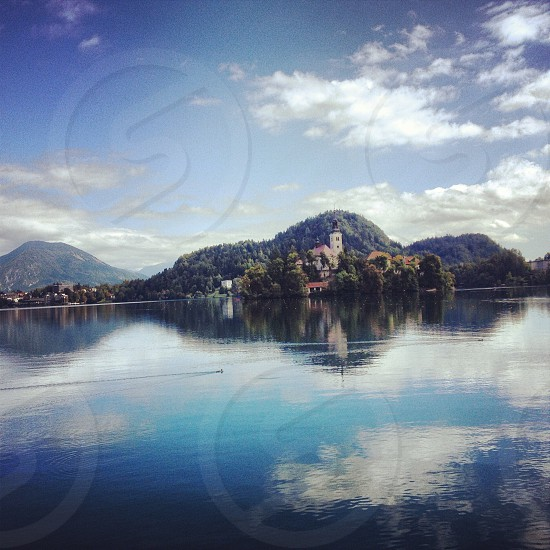 Bled island reflections photo