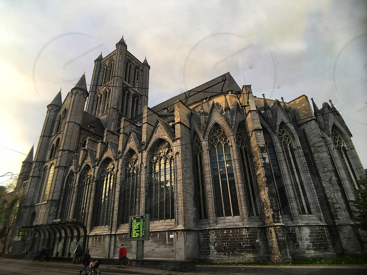 Beautiful church in the centre of Ghent Belgium. photo