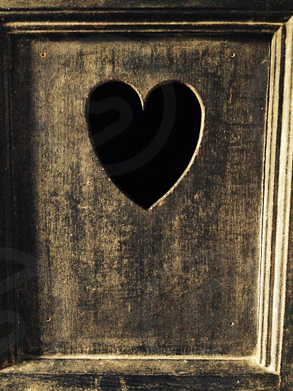 Door heart wood love manor-house peep hole Hampshire   photo