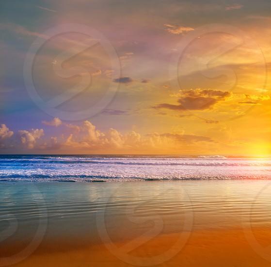 Daytona Beach in Florida shore waves of USA photo