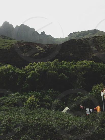 Kalalau Trail Napali Coast Kauai Hawaii Hike Camping Backpacking Beach Camp Mountains Landscape photo