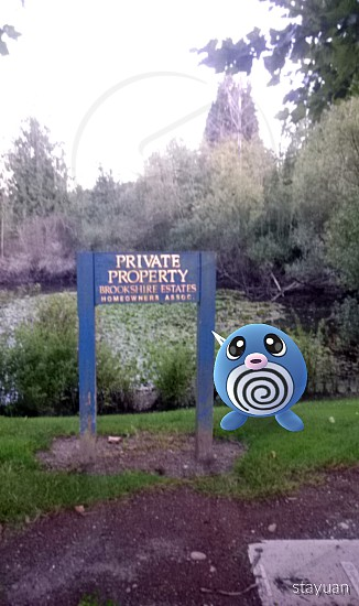 blue wooden Private Property Brookshire Estates sign photo