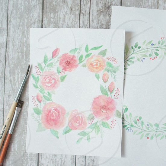 Watercolor flowers watercolor drawing drawwood background textura art inspiration nature natural light photo