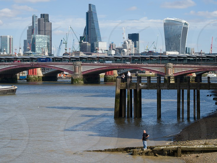 View of the River Thames and the Skyline of London photo