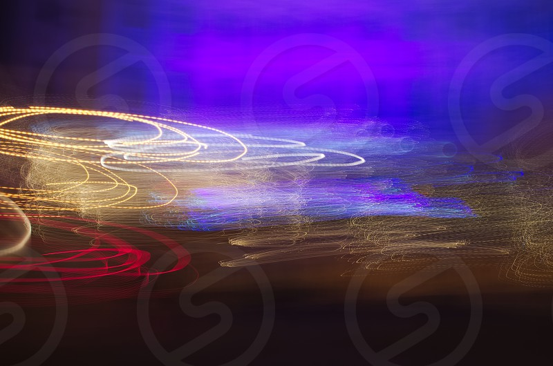 Light Show with Colorful Circular Line Abstract photo