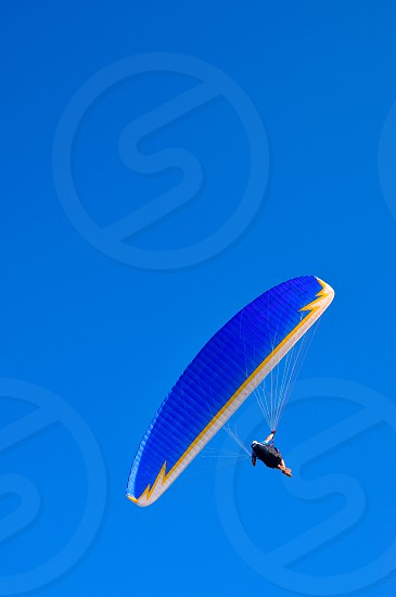 paraglider in the air  photo