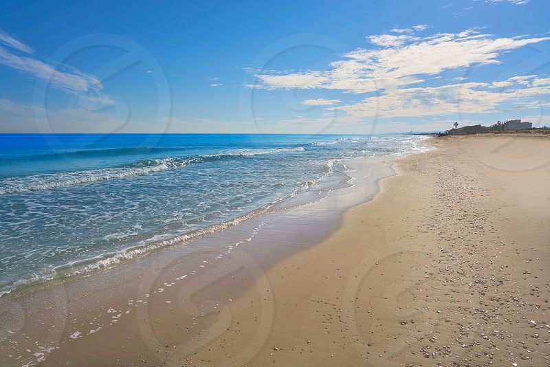 El Saler beach in Valencia Spain La Garrofera at Mediterranean sea photo