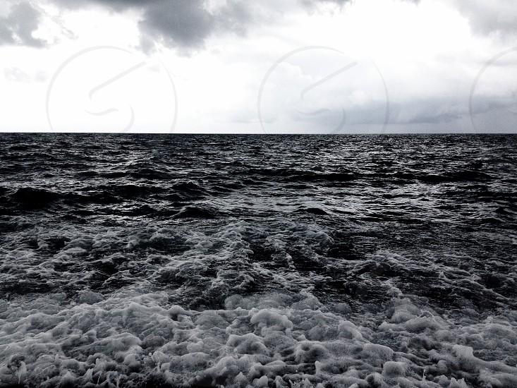 Tumultuos dark sea photo