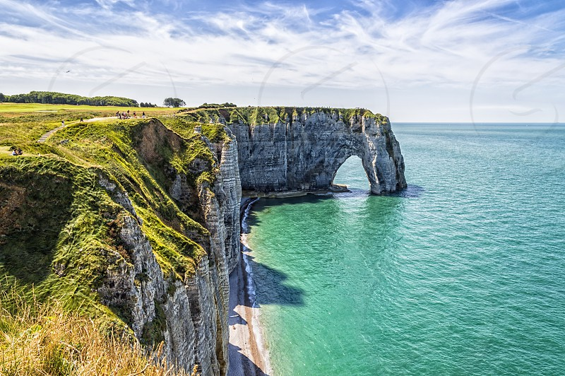 The cliffs of Etretat at Normandy photo