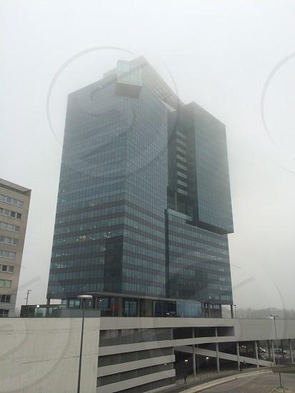 Fog starts around Saturn Tower photo